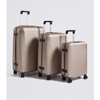 MandS Heritage 8 Wheel Hard Shell Large Suitcase - 1SIZE, Shell,Navy,Petrol,Charcoal