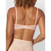 MandS Triumph Womens Fit Smart Lace Embroidered Non Wired Full Cup Bra - 2 - Light Brown, Light Brown,Black