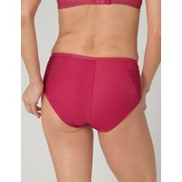M&S Triumph Womens Amourette Charm Lace High Waisted Full Briefs - 10 - Pink, Pink