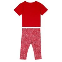 M&S Elle Junior Girls 2pc Pure Cotton Top and Bottom Outfit - 9M - Red, Red