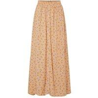 MandS Y.A.S Womens Floral Maxi Slip Skirt - Orange Mix, Orange Mix