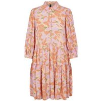 M&S Y.A.S Womens Floral Knee Length Tiered Smock Dress - Multi, Multi