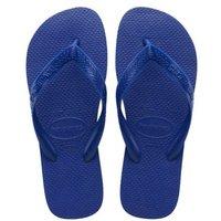 M&S Havaianas Womens Top Flip Flops - 35/36 - Blue, Blue,White,Orange
