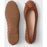 M&S Hobbs Womens Leather Slip On Ballet Pumps - 37.5 - Tan, Tan