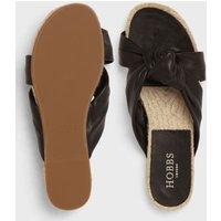 M&S Hobbs Womens Leather Knot Sandals - 37 - Black, Black