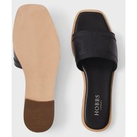 M&S Hobbs Womens Leather Flat Sandals - 36 - Black, Black