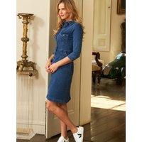 MandS Sosandar Womens Denim Knee Length Shirt Dress - 8 - Indigo, Indigo