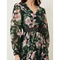 MandS Phase Eight Womens Floral V-Neck Belted Maxi Dress - 8 - Multi, Multi