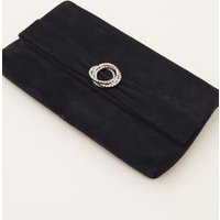 MandS Phase Eight Womens Suede Clutch Bag - 1SIZE - Blue, Blue