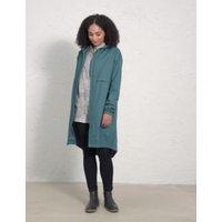 MandS Seasalt Cornwall Womens Longline Relaxed Utility Raincoat - 8 - Green, Green