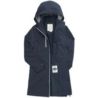 MandS Seasalt Cornwall Womens Cotton Relaxed Longline Raincoatandnbsp; - 8 - Blue, Blue