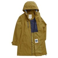 MandS Seasalt Cornwall Womens Cotton Relaxed Longline Raincoat - 10 - Brown, Brown