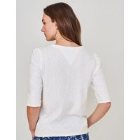 M&S White Stuff Womens Pure Cotton Half Sleeve T-Shirt - 10 - White, White