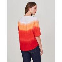 M&S White Stuff Womens Pure Cotton Tie-Dye Half Sleeve Top - 6 - Multi, Multi