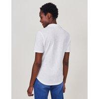 M&S White Stuff Womens Pure Cotton Collared Regular Fit shirt - 8 - White, White