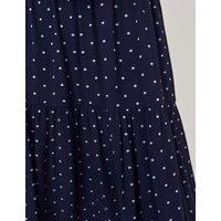 M&S White Stuff Womens Cotton Polka Dot Midaxi Tea Dress - 8 - Navy Mix, Navy Mix
