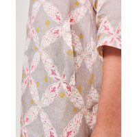 M&S White Stuff Womens Pure Linen Floral Tunic - 6 - Yellow, Yellow