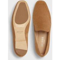 M&S Hobbs Womens Leather Slip On Flat Pumps - 37 - Camel, Camel