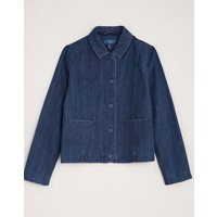 M&S Seasalt Cornwall Womens Pure Cotton Relaxed Utility Jacket - 8 - Blue, Blue