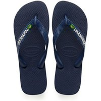 MandS Havaianas Boys Kids Brazil Logo Flip-Flops (Size 7-13) - 23/24 - Navy, Navy,Blue