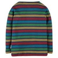 M&S Frugi Unisex Boys Girls Organic Cotton Striped Top (0-5 Yrs) - 0-3 M - Multi, Multi