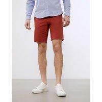 M&S Jaeger Mens Chino Shorts - 36 - Dark Red, Dark Red