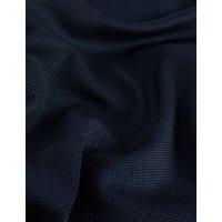 MandS Jaeger Mens Tailored Fit Pure Wool Textured Trousers - 30SHT - Medium Navy, Medium Navy