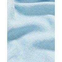 MandS Jaeger Womens Pure Linen V-Neck Maxi Smock Dress - 8 - Blue, Blue