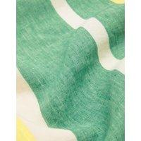 MandS Jaeger Womens Pure Linen Striped Knee Length Shift Dress - 8 - Green Mix, Green Mix