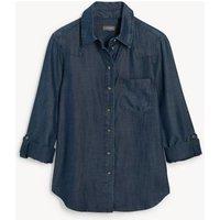 M&S Jaeger Womens Pure Tenceltm Denim Shirt - 8 - Indigo, Indigo