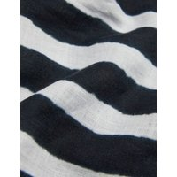 MandS Jaeger Womens Pure Linen Striped Collared Tunic - 6 - Navy/White, Navy/White