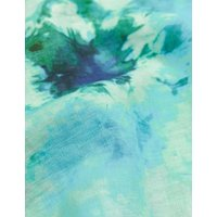 MandS Jaeger Womens Pure Linen Tie Dye V-Neck Sleeveless Tunic - 6 - Blue Mix, Blue Mix