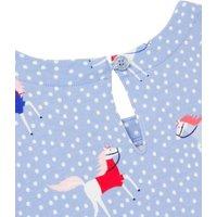 M&S Joules Girls Pure Cotton Pony Dress (2-8 Yrs) - 3y - Blue Mix, Blue Mix