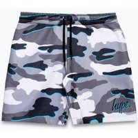 M&S Hype Boys Jersey Camouflage Shorts (5-13 Yrs) - 7-8 Y - Grey Mix, Grey Mix