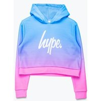 M&S Hype Girls Fade Printed Cropped Hoodie (5-13 Yrs) - 5-6 Y - Blue Mix, Blue Mix