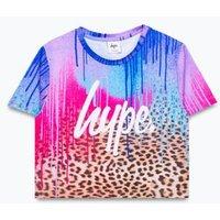 M&S Hype Girls Drips Printed Cropped T-Shirt (5-13 Yrs) - 7-8 Y - Multi, Multi