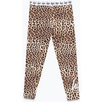 M&S Hype Girls Animal Print Leggings (5-13 Yrs) - 7-8 Y - Brown Mix, Brown Mix
