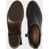 MandS Hobbs Womens Suede Block Heel Ankle Boots - 41 - Black, Black,Brown