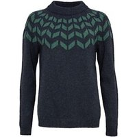 M&S Celtic & Co Womens Pure Wool Crew Neck Jumper - S - Navy Mix, Navy Mix