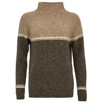 MandS Celtic and Co Womens Pure Wool Funnel Neck Jumper - XS - Brown Mix, Brown Mix