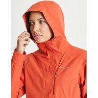 MandS Craghoppers Womens Waterproof Hooded Coat - 8 - Orange, Orange,Blue
