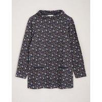 MandS Seasalt Cornwall Womens Pure Cotton Printed Long Sleeve Tunic - 8 - Navy, Navy