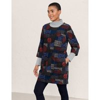 MandS Seasalt Cornwall Womens Pure Cotton Printed 3/4 Sleeve Tunic - 18 - Multi, Multi