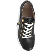M&S Jones Bootmaker Womens Leather Lace Detail Trainers - 3 - Black, Black,White,Stone,Navy
