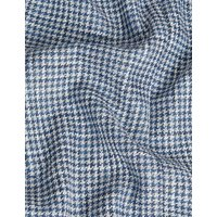 MandS Jaeger Mens Tailored Fit Cotton Houndstooth Jacket - 36REG - Blue Mix, Blue Mix