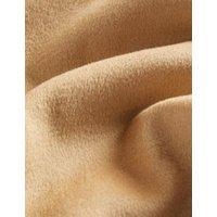 MandS Jaeger Womens Pure Wool Longline Wrap Coat - 6 - Light Camel, Light Camel