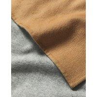MandS Jaeger Womens Pure Wool Reversible Longline Wrap Coat - Light Camel, Light Camel