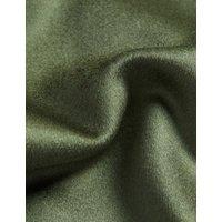 MandS Jaeger Womens Pure Wool Funnel Neck Tailored Coat - 8 - Dark Green, Dark Green