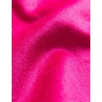MandS Jaeger Womens Pure Wool Collarless Tailored Coat - 6 - Hot Pink, Hot Pink