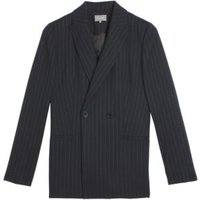 MandS Jaeger Womens Wool Relaxed Double Breasted Blazer - 8 - Navy, Navy